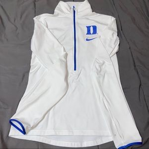 Nike Duke Blue Devils White 1/4 Zip